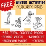 Winter Activities Coloring Pages