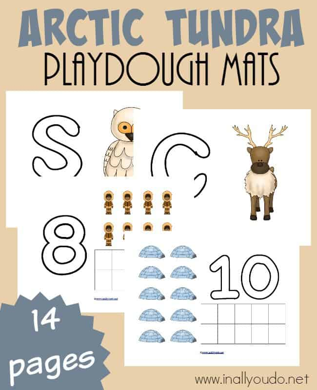 Are you studying the Arctic Tundra this year? Little ones can learn alongside the older kids with these playdough mats! :: www.inallyoudo.net