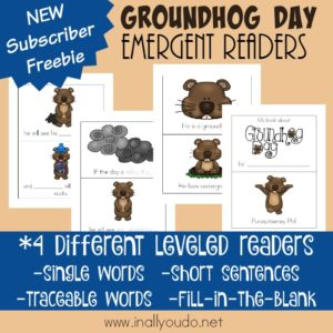 Groundhog Day Emergent Readers