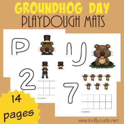 Groundhog Day Playdough Mats