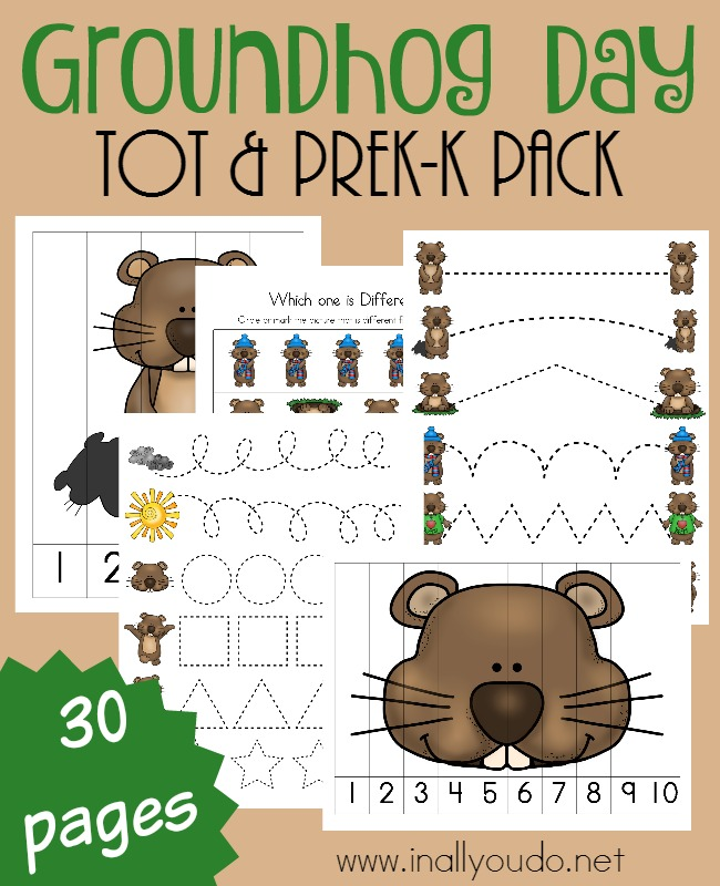 free Groundhog Day preschool homeschool curriculum