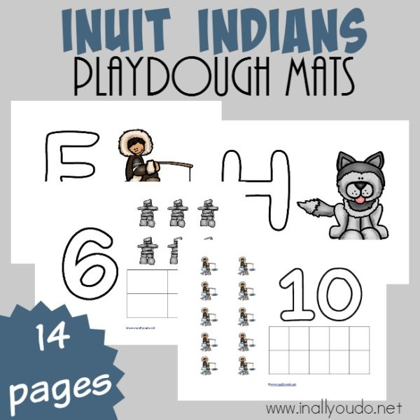 If you're studying the arctic, don't forget to learn all about the Inuit Indians too. These simple playdough mats are great for the little ones as they learn alongside your older kids. :: www.inallyoudo.net