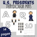 U.S. Presidents Playdough Mats