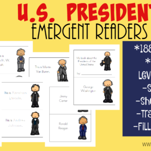 If you're studying the presidents, little ones will love these U.S. Presidents Emergent Readers. Includes all 44 Presidents in both Black & White and Color. :: www.inallyoudo.net