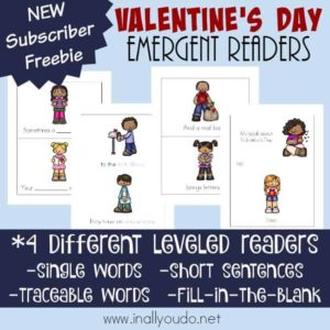 Valentine's Day Emergent Readers
