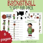 """Basketball """"I Spy"""" Fun Pack"""