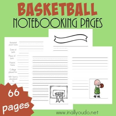 Basketball Notebooking Pages
