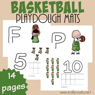 Basketball Playdough Mats
