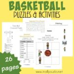 Basketball Puzzles & Activities Pack