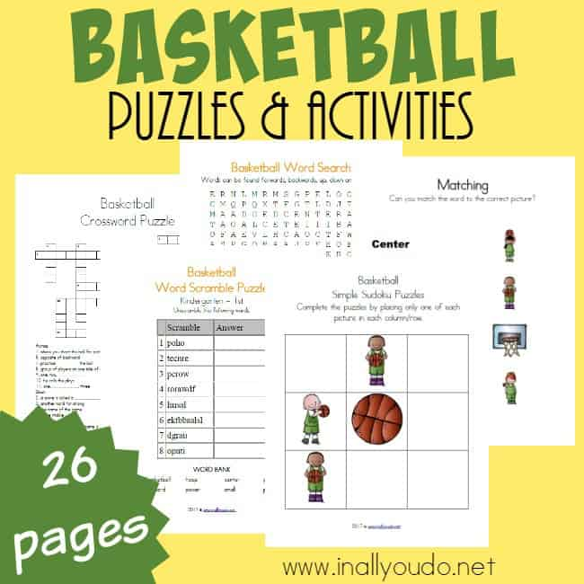 Basketball Word Search For Kids | printable brackets