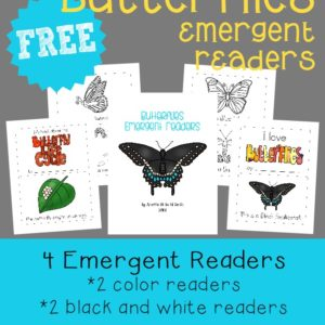Butterflies Emergent Reader