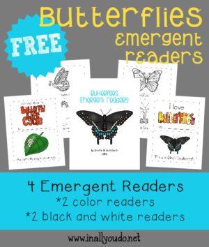 Butterflies Emergent Reader