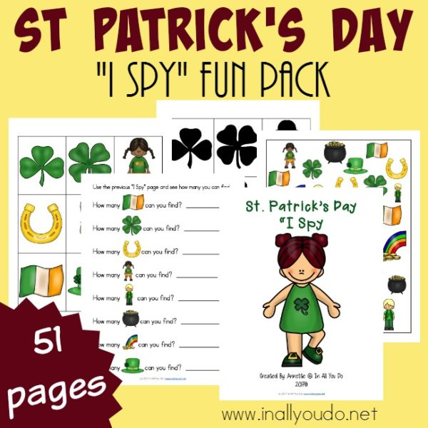 "This fun ""I Spy"" pack will not disappoint. With a simple I Spy page, Can You Find page, graphing page and more! :: www.inallyoudo.net"