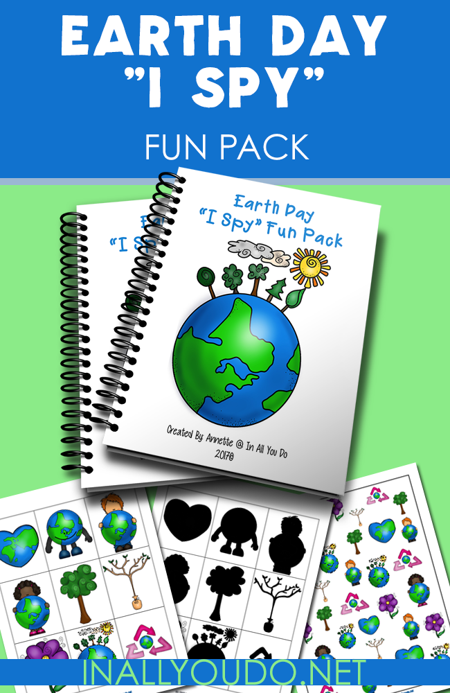 """Celebrating Earth Day this year? Grab this SUPER FUN """"I Spy"""" pack with activities for your PreK-K crowd. :: www.inallyoudo.net"""