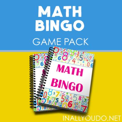 Printable Math BINGO Game Pack