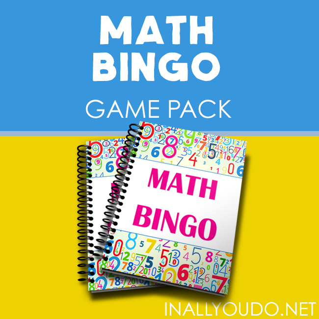 Printable Math Bingo Game Pack In All You Do