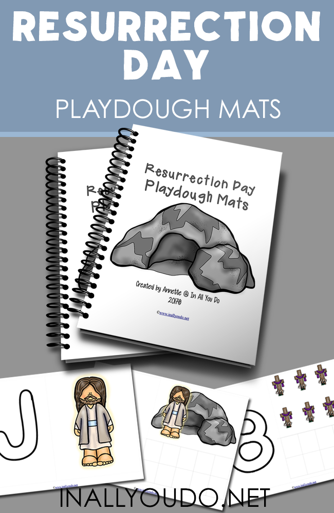 Little ones will love working on their fine motor skills with these Resurrection Day Playdough Mats. :: www.inallyoudo.net