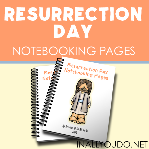 These Resurrection Day Notebooking Pages are a great way to help older kids truly focus on the meaning of Easter and what it means as a Christian. Includes over 90 pages of templates! :: www.inallyoudo.net