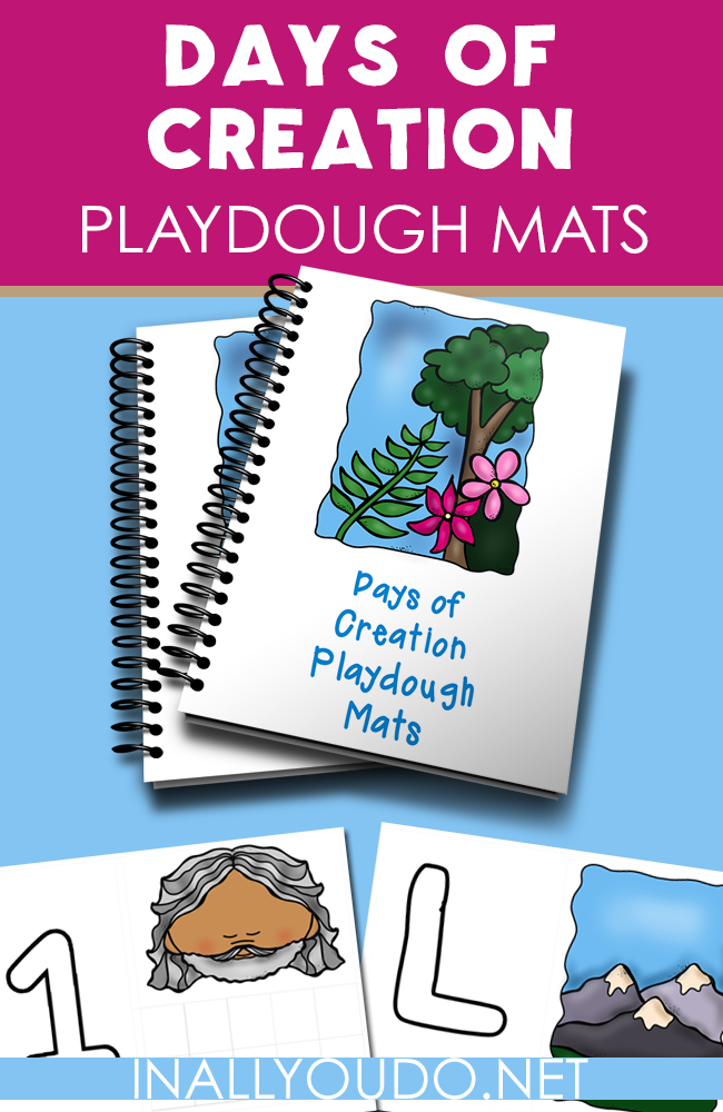 Help your little ones learn about the Days of Creation while working on their fine motor skills with these fun playdough mats! Includes numbers 1-10 and 4 letters! :: www.inallyoudo.net