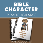 Bible Characters Playdough Mats