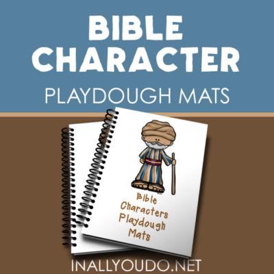 Bible Characters Playdough Mats