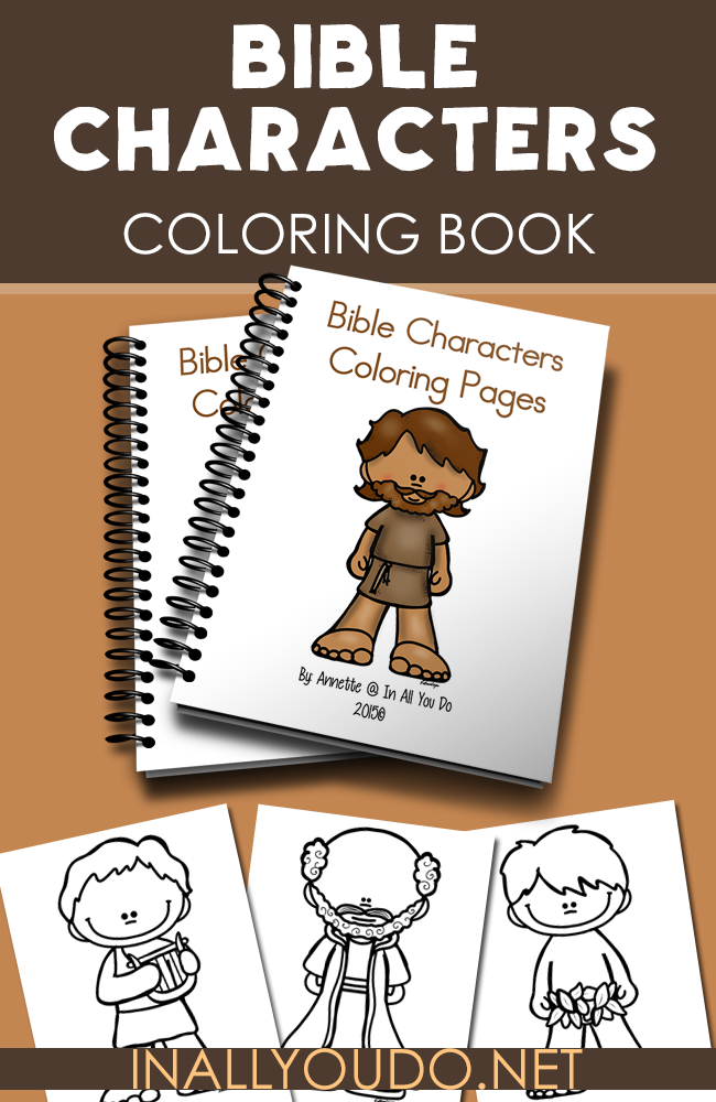 These Bible Character Coloring pages are perfect for any Sunday School, church class or homeschool Bible time. It includes 10 coloring pages in 4 different handwriting styles for a total of 40 fun pages. :: www.inallyoudo.net
