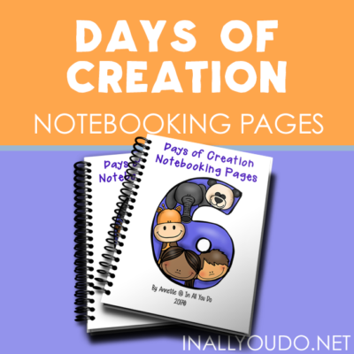 Days of Creation Notebooking Pages
