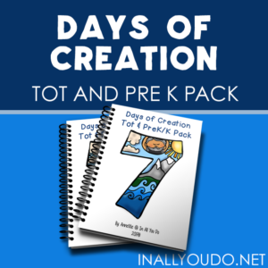 Your little ones will love working through this Days of Creation Tot & PreK-K Pack as they complete puzzles, prewriting activities, learn beginning letters and more! :: www.inallyoudo.net