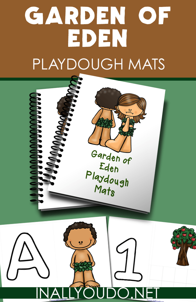 Teach your little ones about Adam and Eve and the Garden of Eden while working on their fine motor skills with these Playdough Mats. :: www.inallyoudo.net