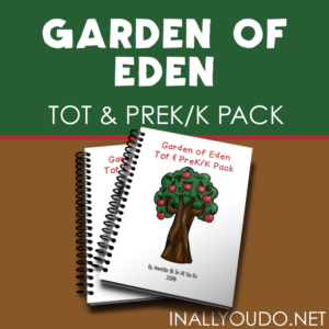 Your little ones will love working through this Garden of Eden Tot & PreK-K Pack as they learn more about Adam & Eve! :: www.inallyoudo.net