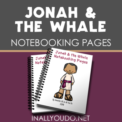 Jonah & the Whale Notebooking Pages