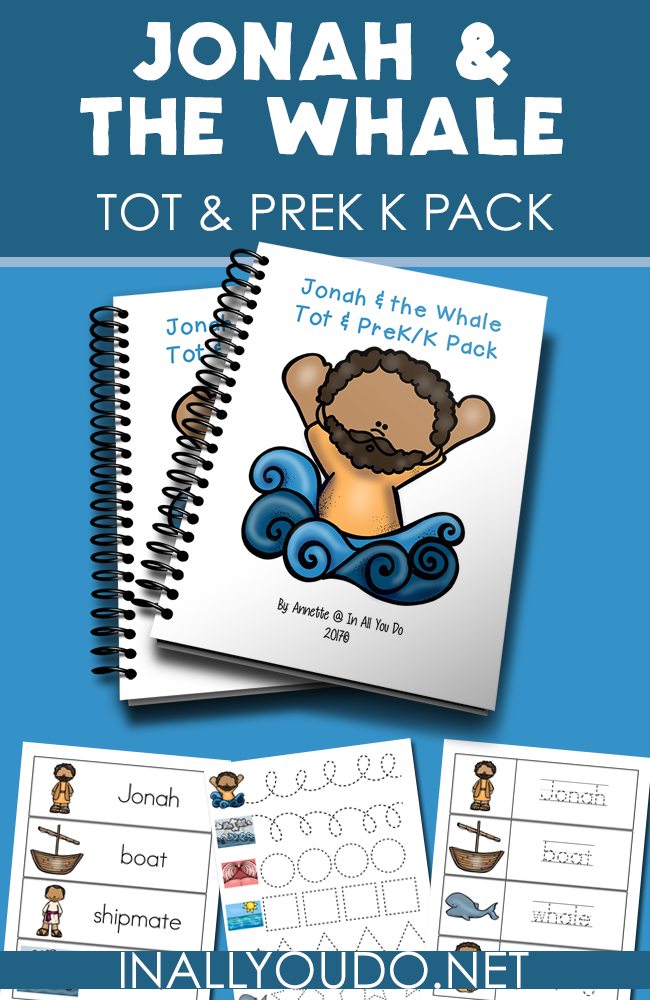 Your little ones will love working through this Jonah & the Whale Tot & PreK-K Pack as they learn more about the Jonah, the whale and God's love! This pack is geared toward children ages 2-5 years old. :: www.inallyoudo.net
