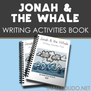 Help kids remember the Scriptures and the story of Jonah & the Whale with these Writing Activities. Includes 54 pages of copywork and writing prompts for PreK-5. :: www.inallyoudo.net