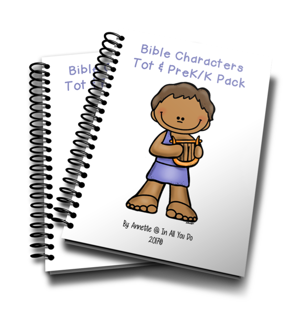 Your little ones will love working through this Bible Characters Bible Tot & PreK-K Pack as they learn more about 12 people in the Bible! This pack is geared toward children ages 2-5 years old. :: www.inallyoudo.net