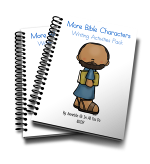More Bible Characters Writing Activities