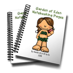 Kids can record what they've read and studied about the Garden of Eden as well as Adam & Eve with these Notebooking Pages. Includes 18 generic pages and 42 color and black & white pages in 3 different lined writing styles. :: www.inallyoudo.net
