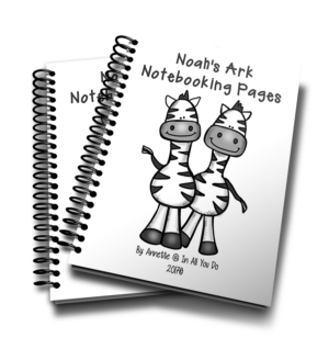 Noah's Ark Notebooking Pages