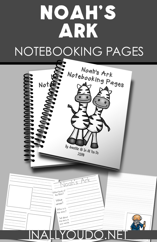 Help kids learn more and remember the story of Noah's Ark with these Notebooking pages. Includes 3 different sets of handwriting lines for all ages. :: www.inallyoudo.net