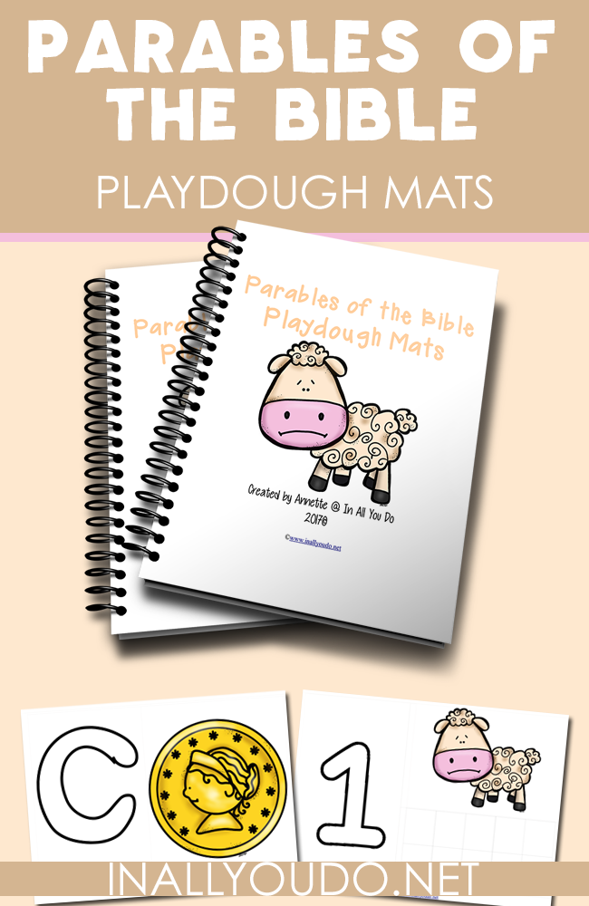 Help your little ones learn about different Parables of the Bible while working on their fine motor skills with these fun playdough mats! :: www.inallyoudo.net