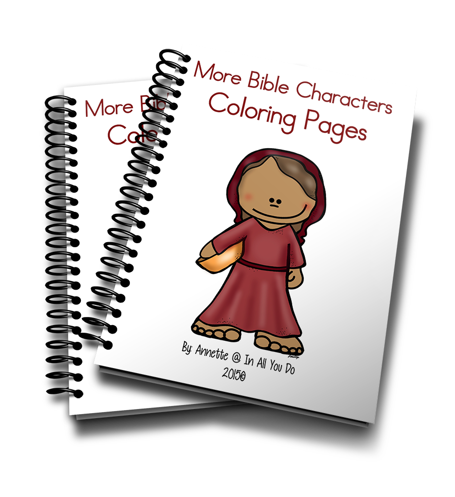 More Bible Characters Coloring Pages In All You Do