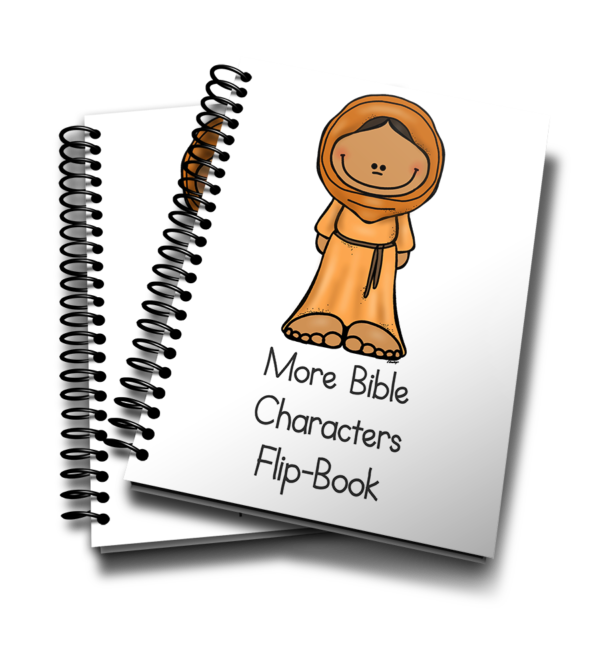 This fun mini flip book is perfect for any Sunday School or preschool class to 12 More Bible Characters from the Old and New Testament. Available in COLOR and Black & White. :: www.inallyoudo.net