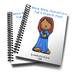 Your little ones will love working through this More Bible Characters Bible Tot & PreK-K Pack as they learn more about 12 additional people in the Bible! :: www.inallyoudo.net