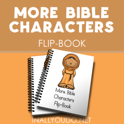 More Bible Characters Mini Flip Book