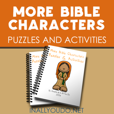 More Bible Characters Puzzles & Activities