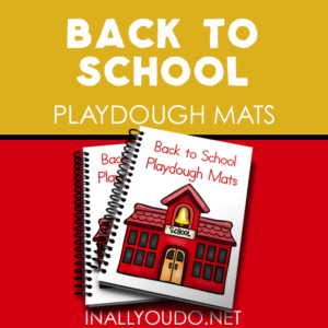 These Back to School Playdough Mats are super fun and a great welcome activity for the first day of school as well as a great multi-sensory activity for kids. :: www.inallyoudo.net