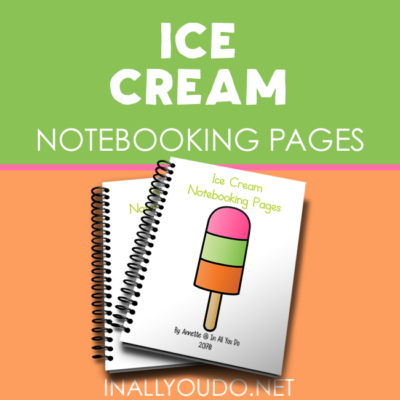 Ice Cream themed Notebooking Pages