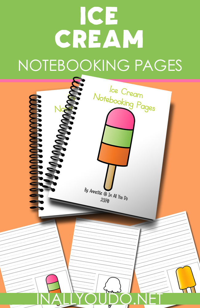 These fun Ice Cream Notebooking Pages are great for summer time learning! Download them for a simple way to record the history of ice cream, take a poll of everyone's favorite or just for fun. :: www.inallyoudo.net