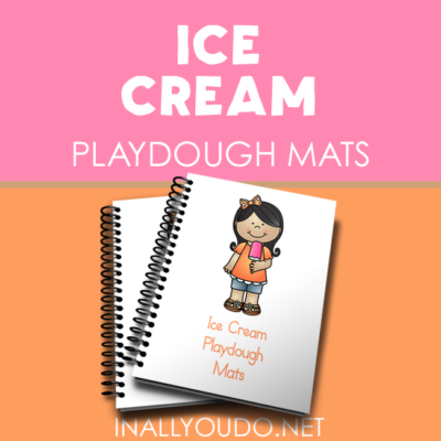 Ice Cream themed Playdough Mats