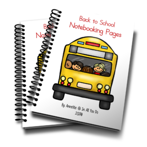 These fun Back to School Notebooking Pages are great for older kids on their first day back to school! Download them for a fun way to record all the things they did over the summer, what they want to accomplish in the new year and more! :: www.inallyoudo.net