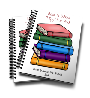 "Back to School ""I Spy"" Fun Pack"